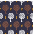 Pattern with trees vector image