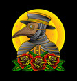 plague doctor tattoos vector image