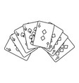 poker deck cards gambling diamond and spade suit vector image vector image
