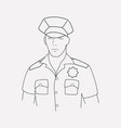 police icon line element of vector image