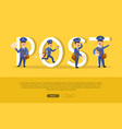 post conceptual web banner with cartoon postman vector image vector image