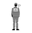 prisoner with selfie vector image