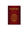 red passport vector image