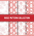 seamless pattern background hand drawn flower rose vector image vector image