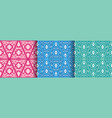 set of ethnic seamless patterns with geometric vector image