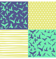 Set of seamless patterns vector image vector image