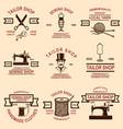 set of tailor shop emblems design elements for vector image vector image