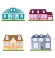 set suburban houses on white background vector image