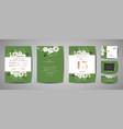 set wedding invitation floral invite thank you vector image vector image