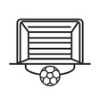 soccer game goal net and ball league recreational vector image vector image