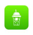 soda icon green vector image vector image