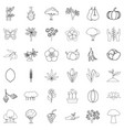 sprout icons set outline style vector image vector image
