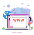 square concept domain authority in flat vector image vector image