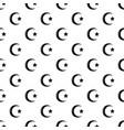 star crescent symbol islam pattern seamless vector image