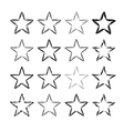 Star icons grunge set vector image