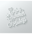 summer holidays cut paper lettering background vector image vector image