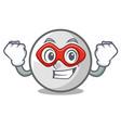 super hero golf ball character cartoon vector image