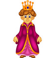 sweet queen cartoon standing with smile vector image vector image