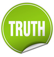 truth round green sticker isolated on white vector image vector image