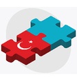 Turkey and Kazakhstan Flags vector image vector image