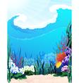 Underwater vector image