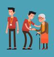 Volunteering with the Elderly vector image