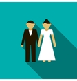 Wedding couple icon flat style vector image
