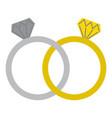wedding rings jewelry diamonds unity vector image