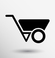 wheelbarrow icon button logo symbol concept vector image vector image
