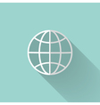 White globe icon over mint vector image vector image