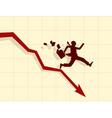 concept of financial crisis vector image