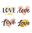 Love hand drawn brush lettering collection vector image