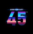 45 years anniversary celebration logotype vector image vector image