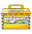A bakery stall vector image vector image