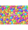 abstract background with realistic 3d sphere vector image
