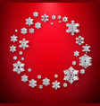 abstract winter background with paper snowflakes vector image