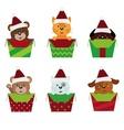 animals christmas vector image