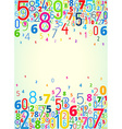background from numbers vector image vector image