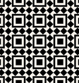 Black and white square abstract retro pattern vector image vector image