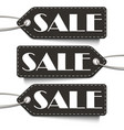 black sale tags set tags sale isolated on the vector image