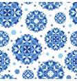 Blue abstract circles seamless pattern background vector image vector image