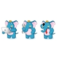 Blue Elephant Mascot with laptop vector image vector image