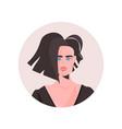 brunette young woman profile avatar beautiful girl
