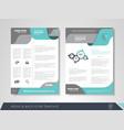 business brochure vector image vector image