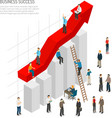Business Success People Poster vector image vector image