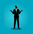 businessman shrugging shoulders vector image