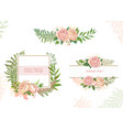 card with flowers set of cards vector image vector image