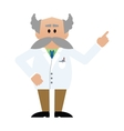 Cartoon professor with moustache vector image vector image