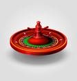 casino roulette object realistic background vector image