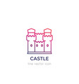 castle fortress linear icon vector image vector image